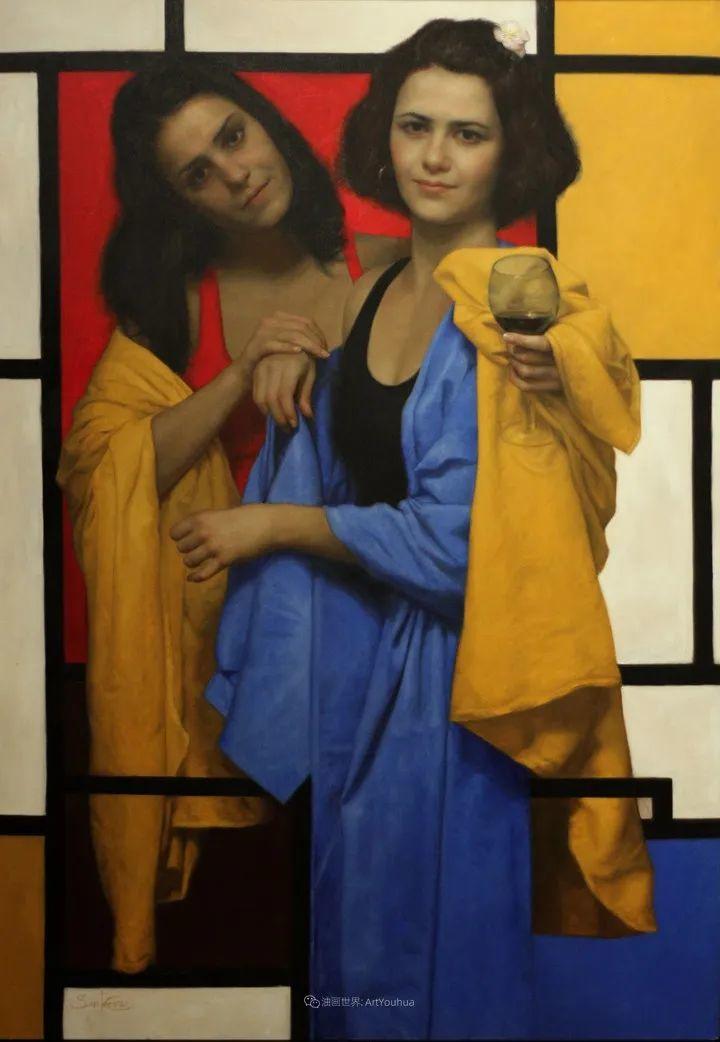 有趣的人物创作,古巴裔美国画家塞萨尔·桑托斯(下)插图41