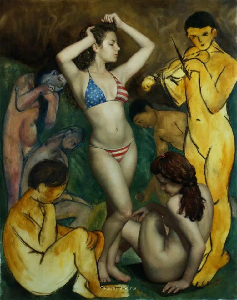 有趣的人物创作,古巴裔美国画家塞萨尔·桑托斯(下)插图53