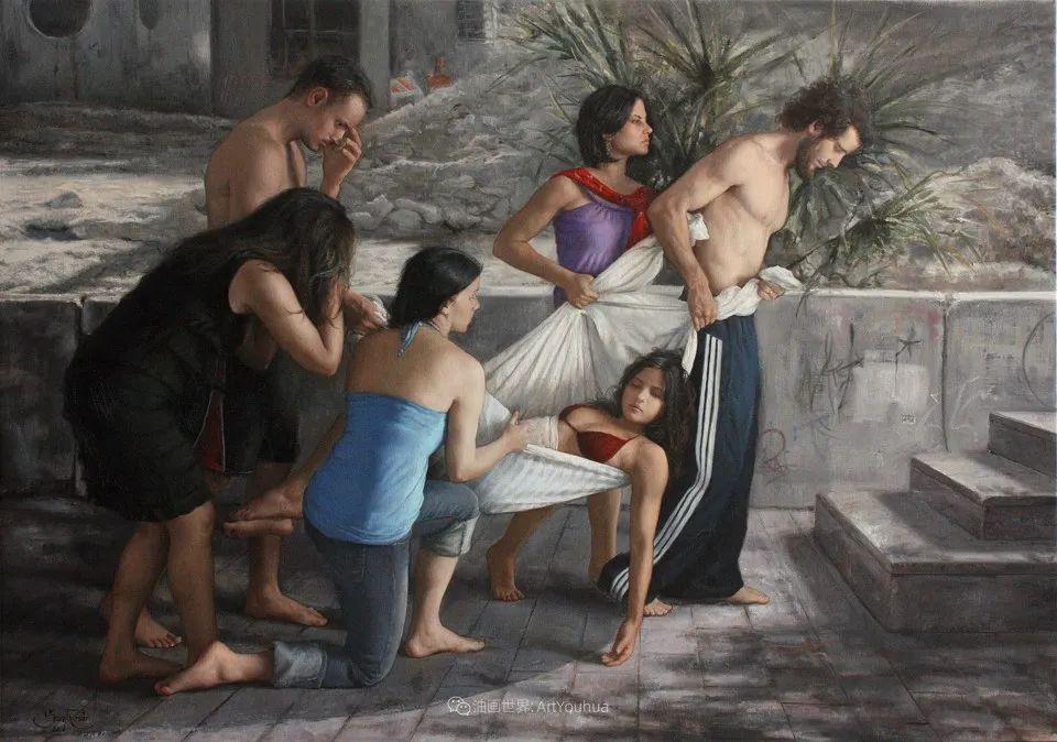 有趣的人物创作,古巴裔美国画家塞萨尔·桑托斯(下)插图55