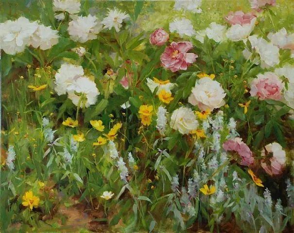 对花卉和花园的独特诠释,美国女画家凯西·安德森插图1