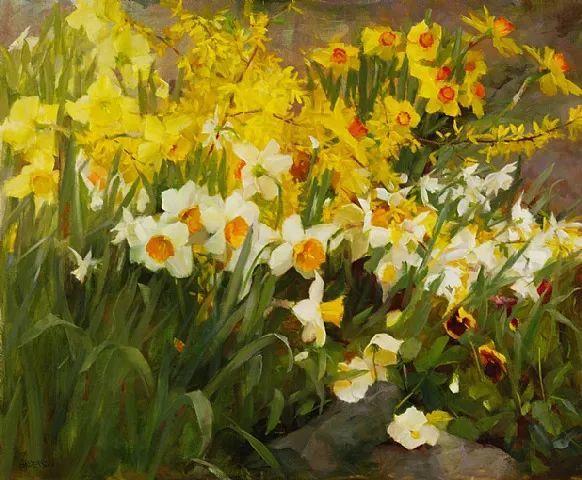 对花卉和花园的独特诠释,美国女画家凯西·安德森插图2