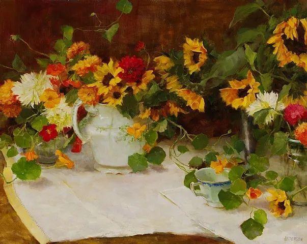 对花卉和花园的独特诠释,美国女画家凯西·安德森插图3