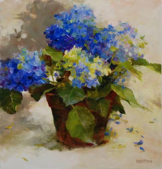 对花卉和花园的独特诠释,美国女画家凯西·安德森插图4