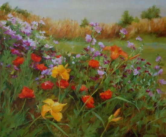 对花卉和花园的独特诠释,美国女画家凯西·安德森插图13