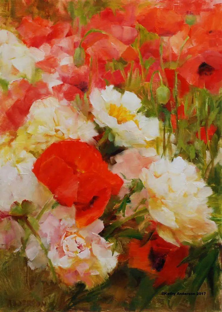 对花卉和花园的独特诠释,美国女画家凯西·安德森插图20