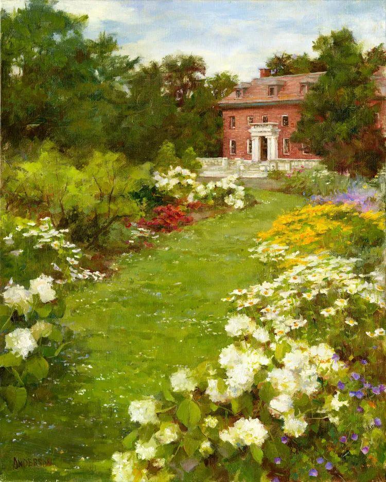 对花卉和花园的独特诠释,美国女画家凯西·安德森插图21