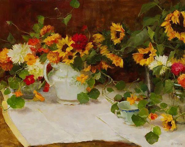 对花卉和花园的独特诠释,美国女画家凯西·安德森插图24