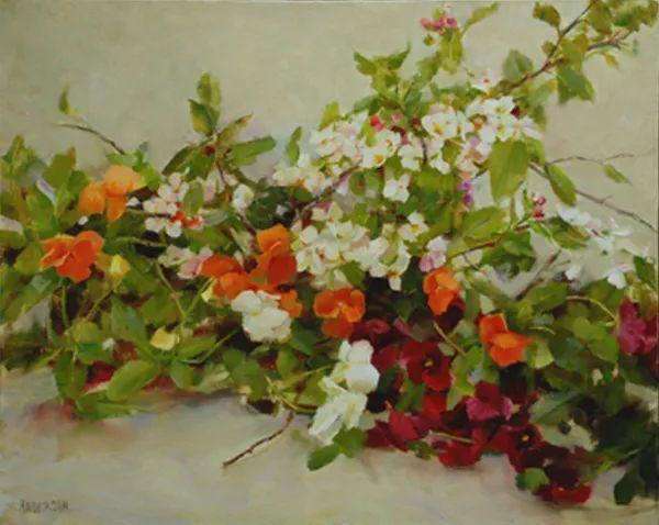 对花卉和花园的独特诠释,美国女画家凯西·安德森插图25