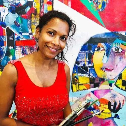她的艺术是丰富多彩的,孟加拉国艺术家谢法利·兰特插图1
