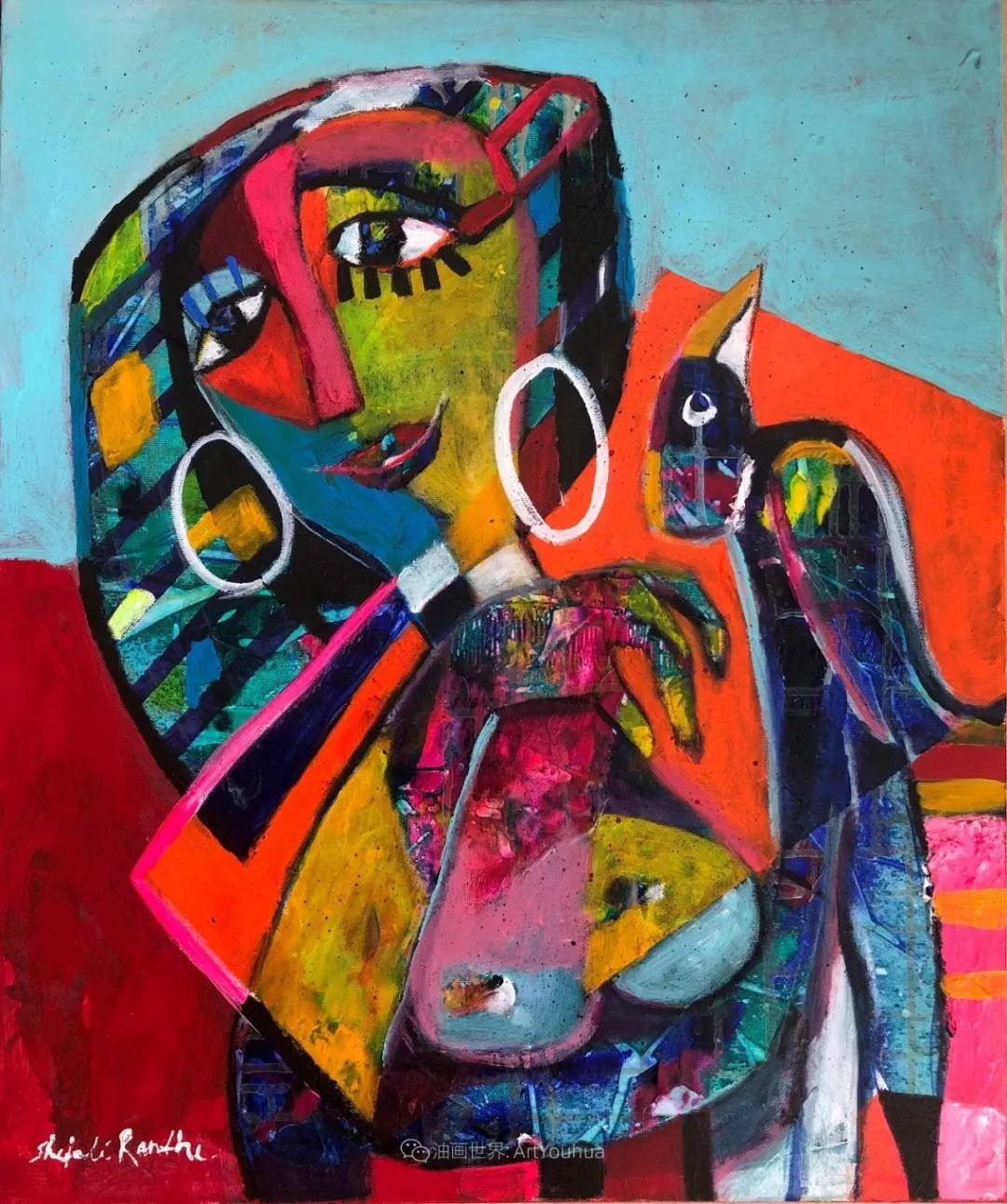 她的艺术是丰富多彩的,孟加拉国艺术家谢法利·兰特插图3