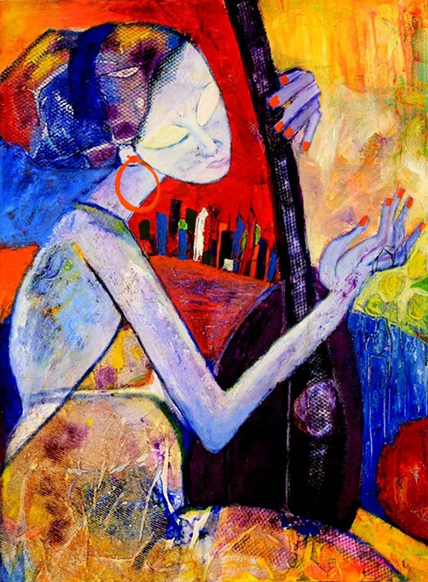 她的艺术是丰富多彩的,孟加拉国艺术家谢法利·兰特插图4