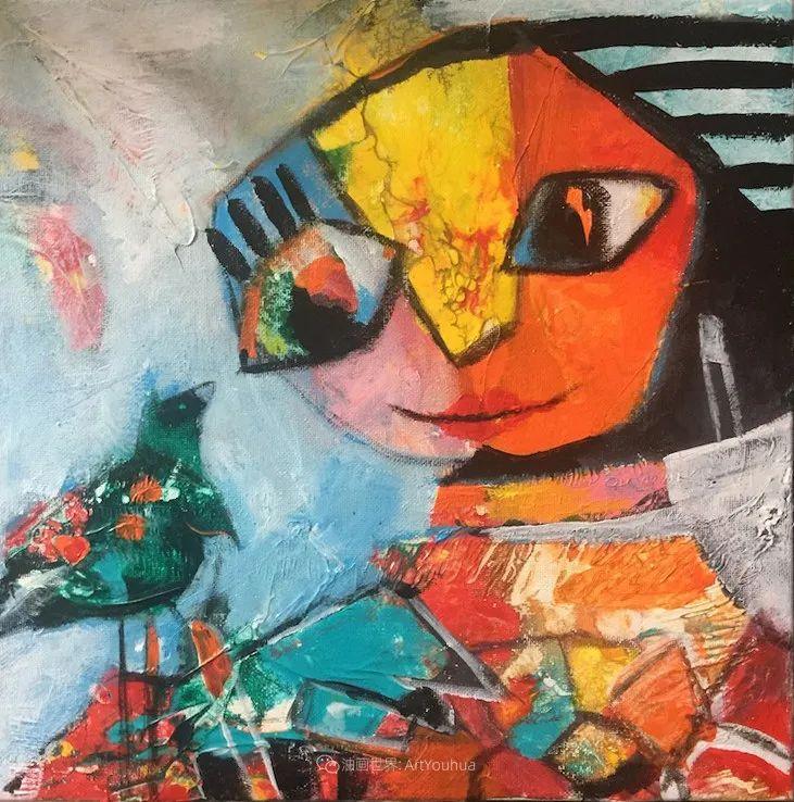 她的艺术是丰富多彩的,孟加拉国艺术家谢法利·兰特插图5