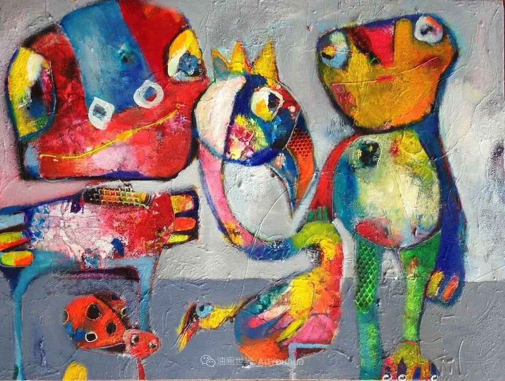 她的艺术是丰富多彩的,孟加拉国艺术家谢法利·兰特插图9
