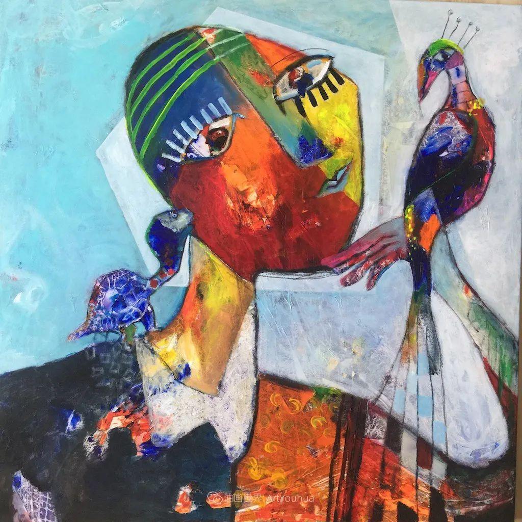她的艺术是丰富多彩的,孟加拉国艺术家谢法利·兰特插图14