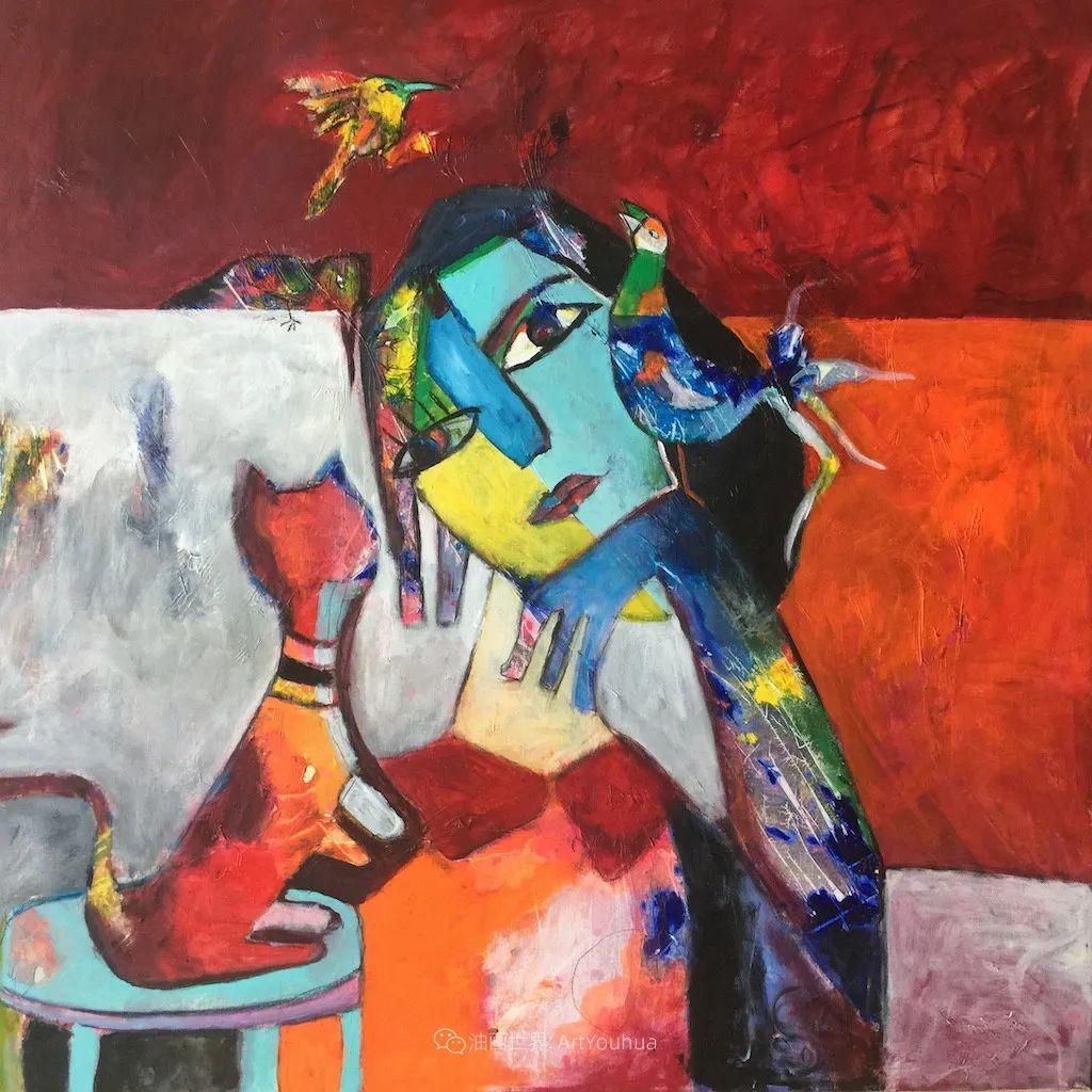 她的艺术是丰富多彩的,孟加拉国艺术家谢法利·兰特插图15