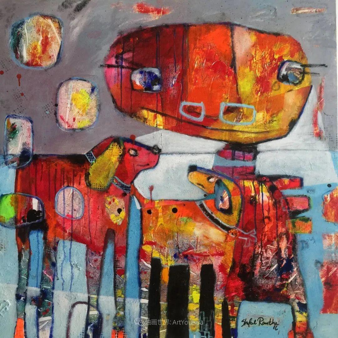 她的艺术是丰富多彩的,孟加拉国艺术家谢法利·兰特插图16