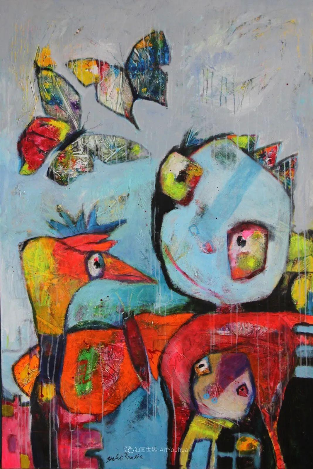 她的艺术是丰富多彩的,孟加拉国艺术家谢法利·兰特插图18