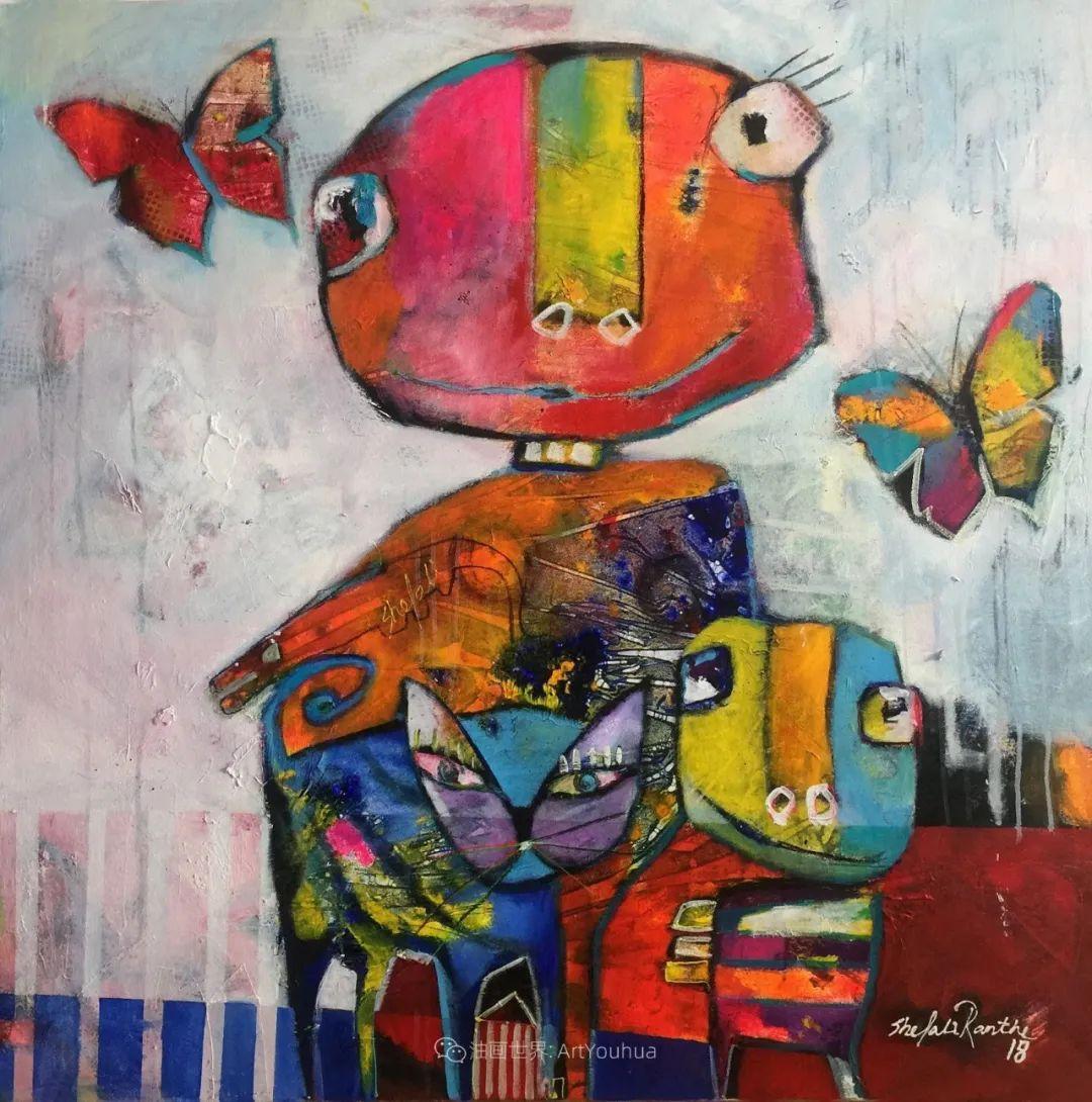 她的艺术是丰富多彩的,孟加拉国艺术家谢法利·兰特插图19