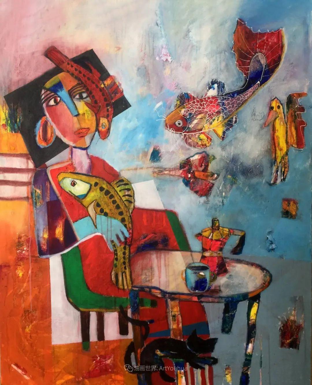 她的艺术是丰富多彩的,孟加拉国艺术家谢法利·兰特插图20