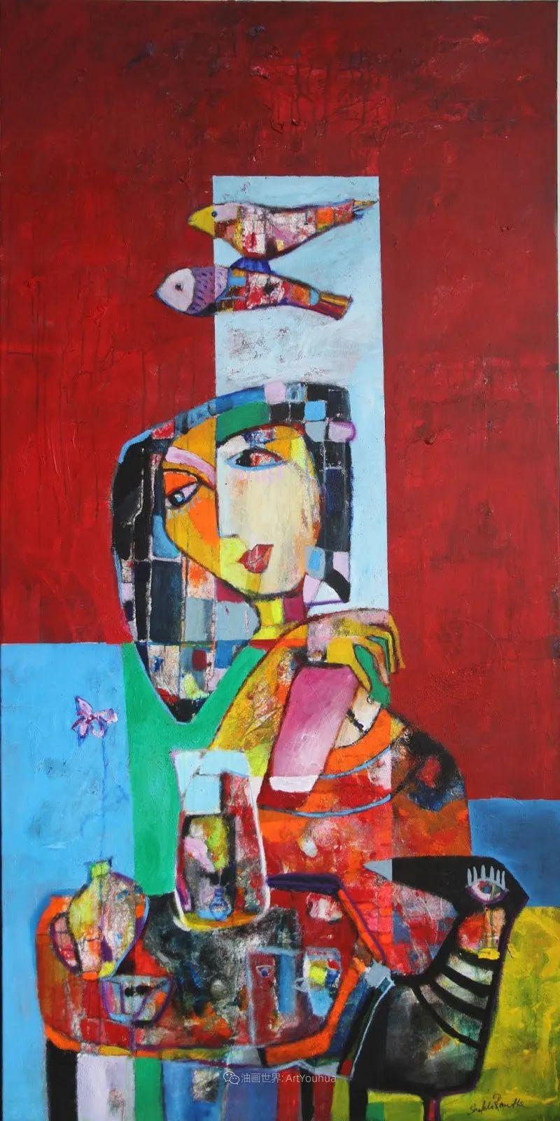 她的艺术是丰富多彩的,孟加拉国艺术家谢法利·兰特插图21