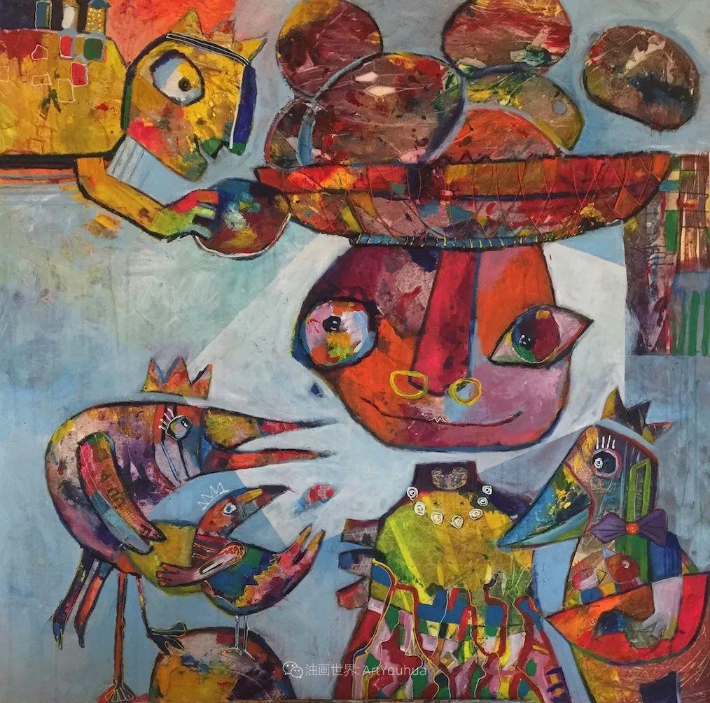 她的艺术是丰富多彩的,孟加拉国艺术家谢法利·兰特插图22