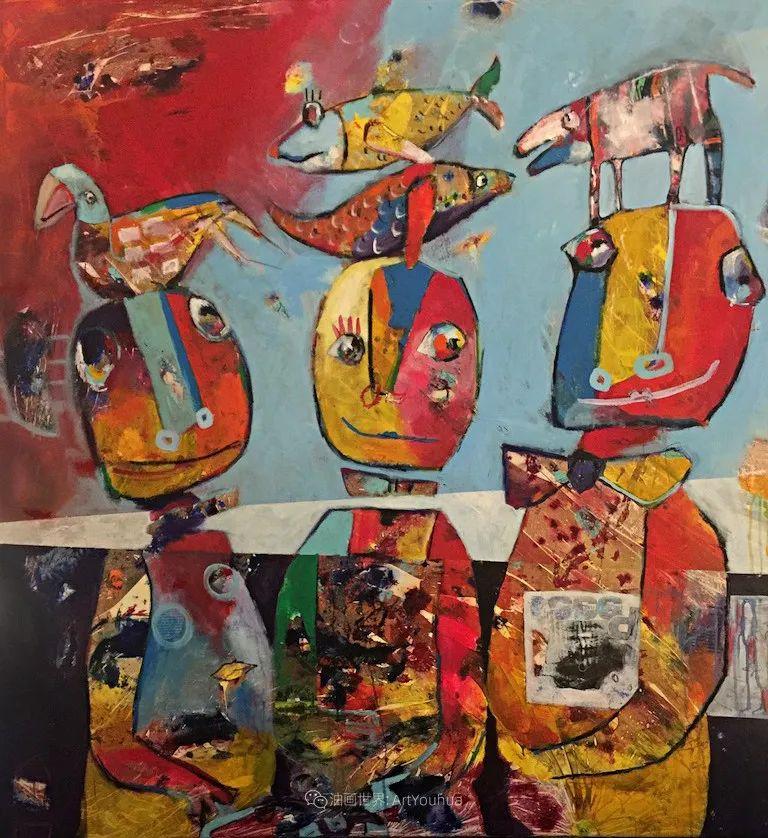 她的艺术是丰富多彩的,孟加拉国艺术家谢法利·兰特插图23