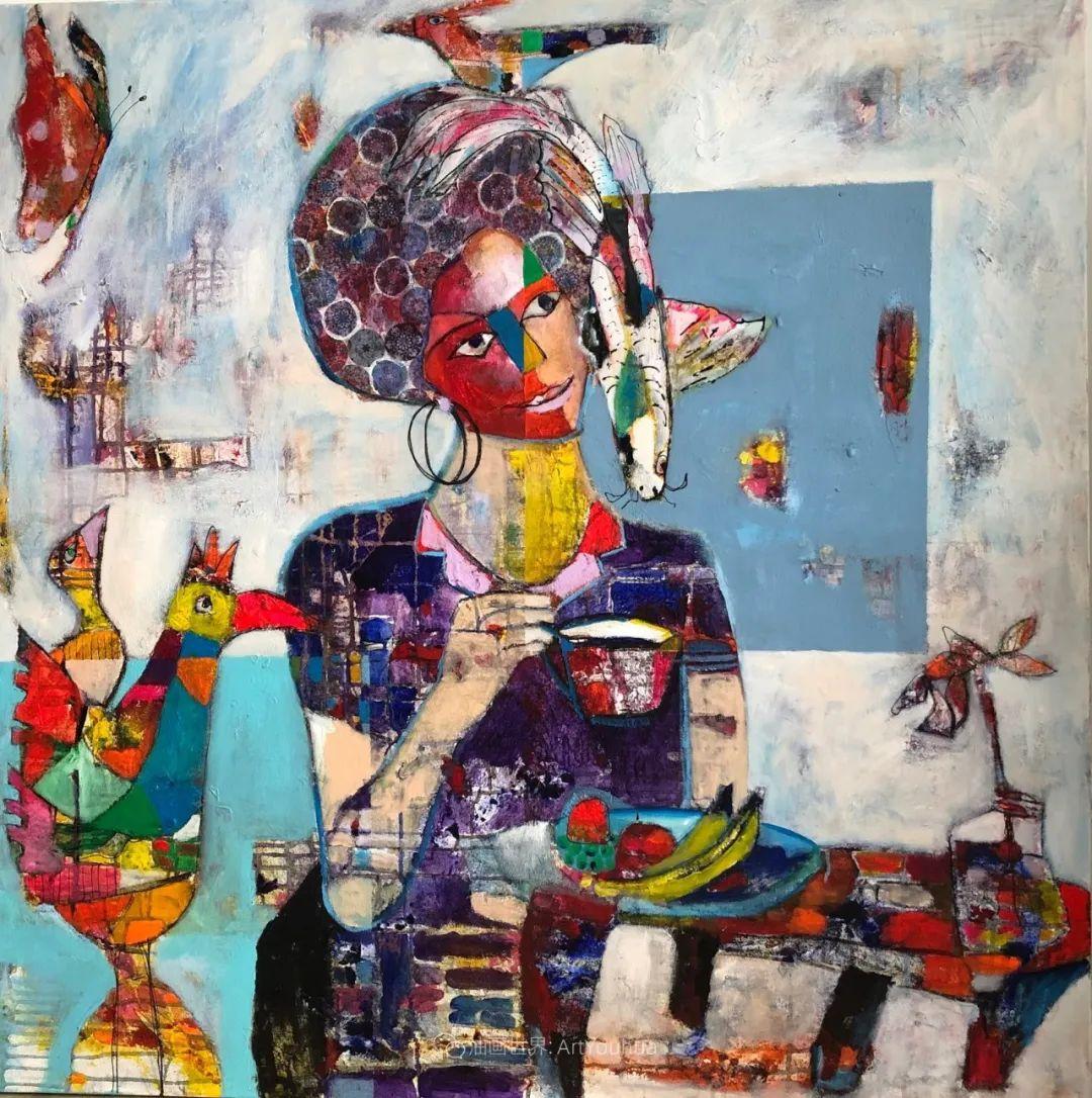 她的艺术是丰富多彩的,孟加拉国艺术家谢法利·兰特插图24