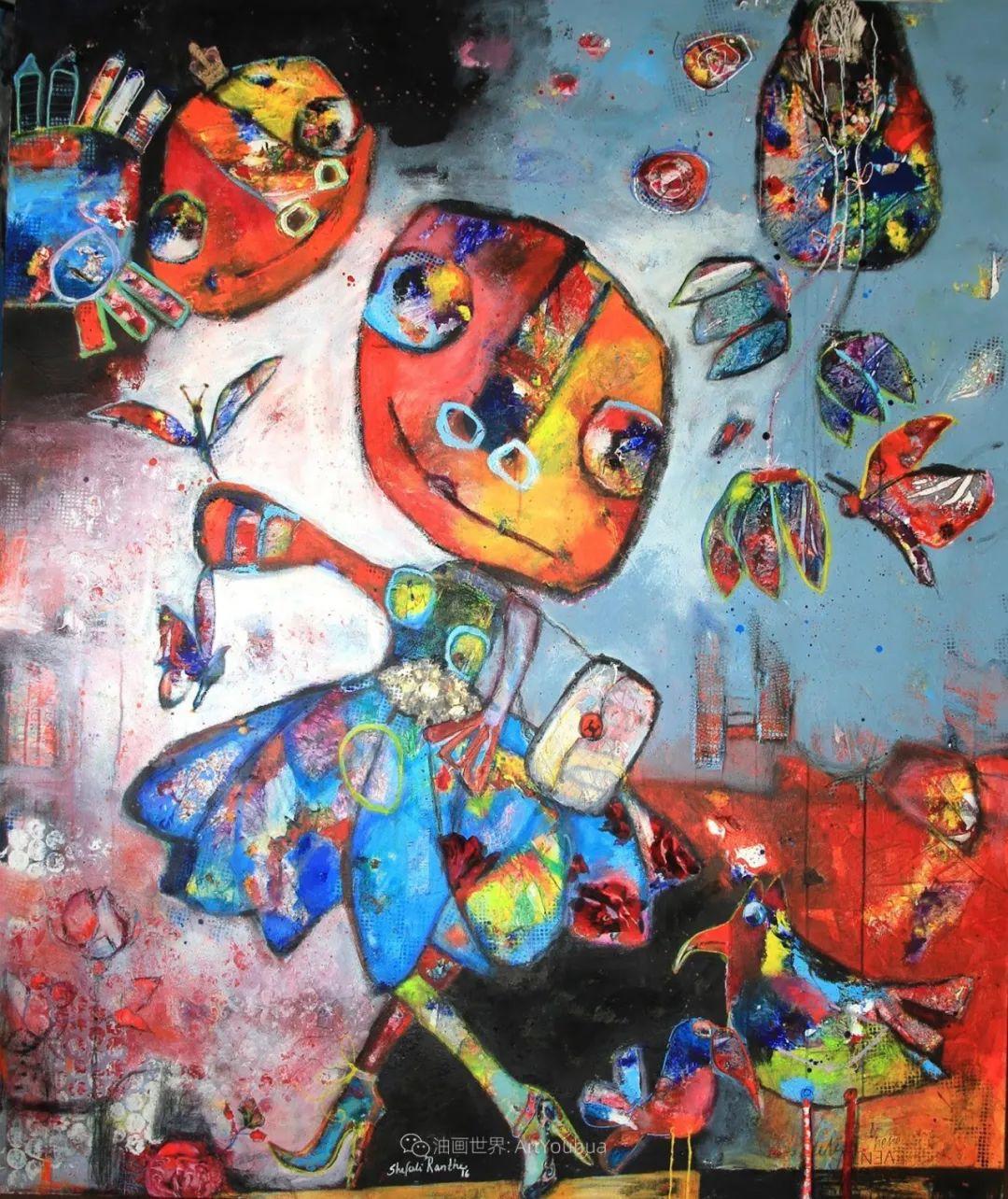 她的艺术是丰富多彩的,孟加拉国艺术家谢法利·兰特插图25
