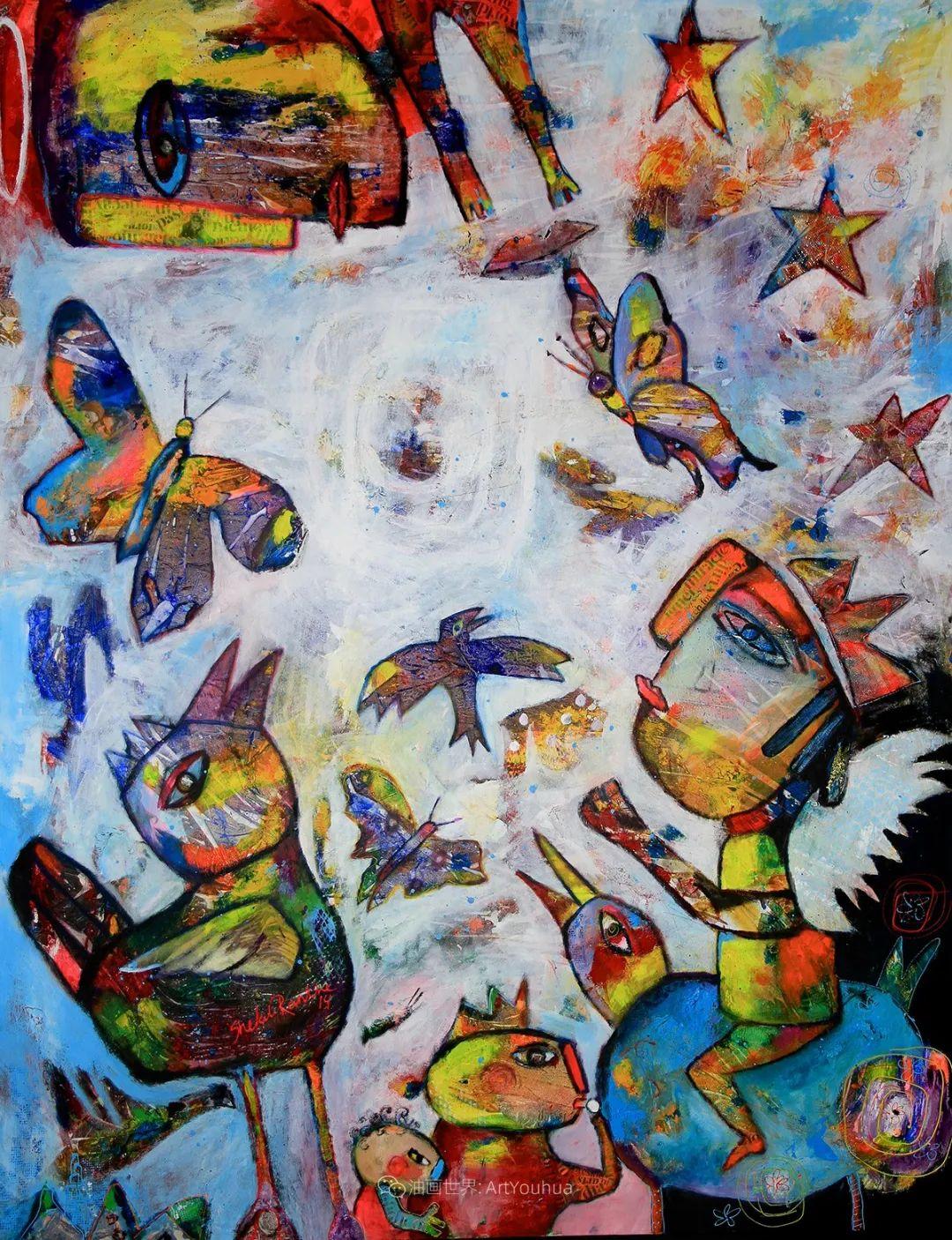 她的艺术是丰富多彩的,孟加拉国艺术家谢法利·兰特插图26