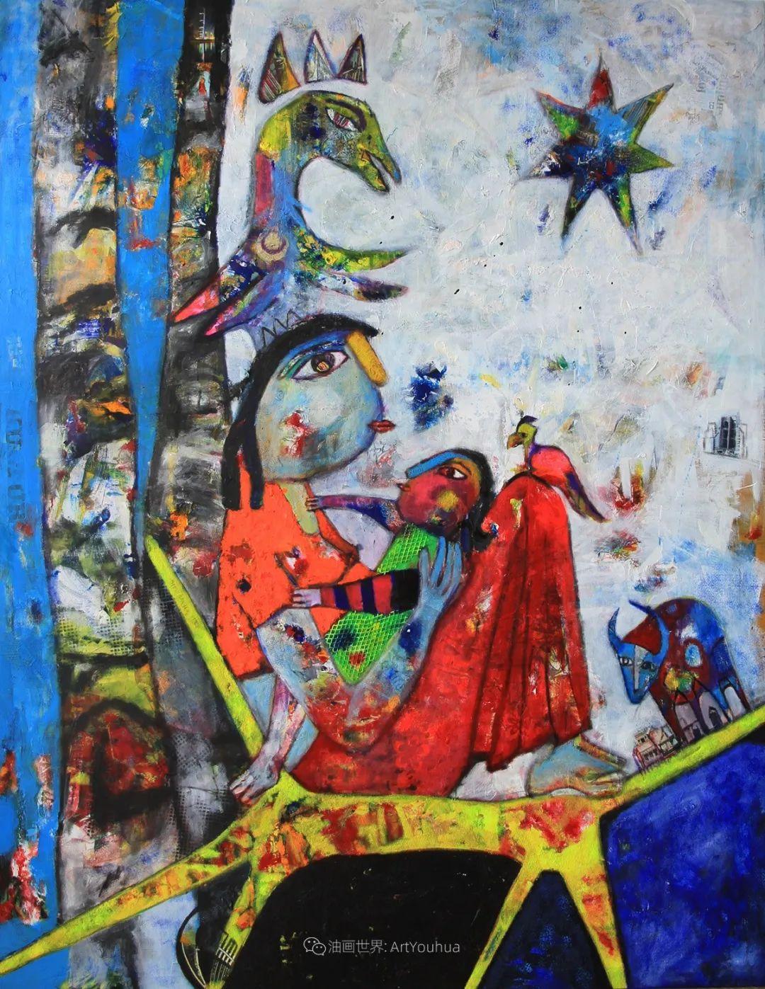 她的艺术是丰富多彩的,孟加拉国艺术家谢法利·兰特插图27