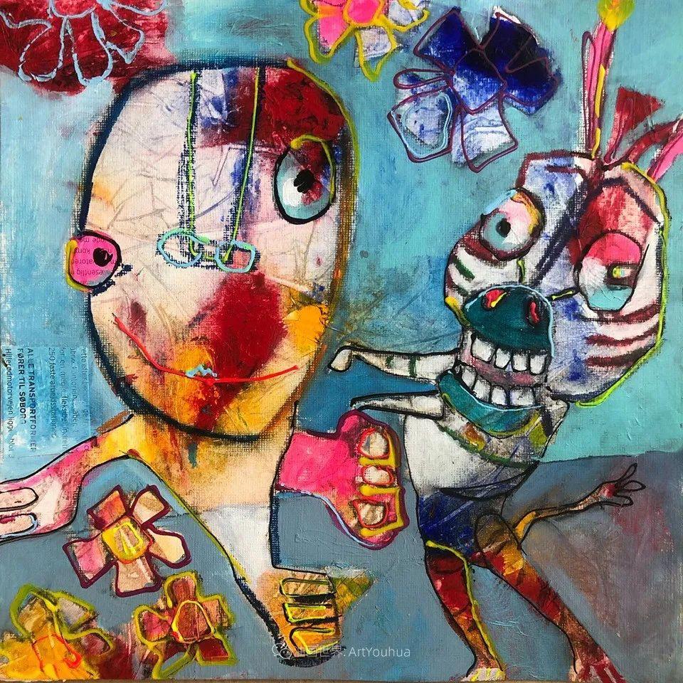 她的艺术是丰富多彩的,孟加拉国艺术家谢法利·兰特插图28