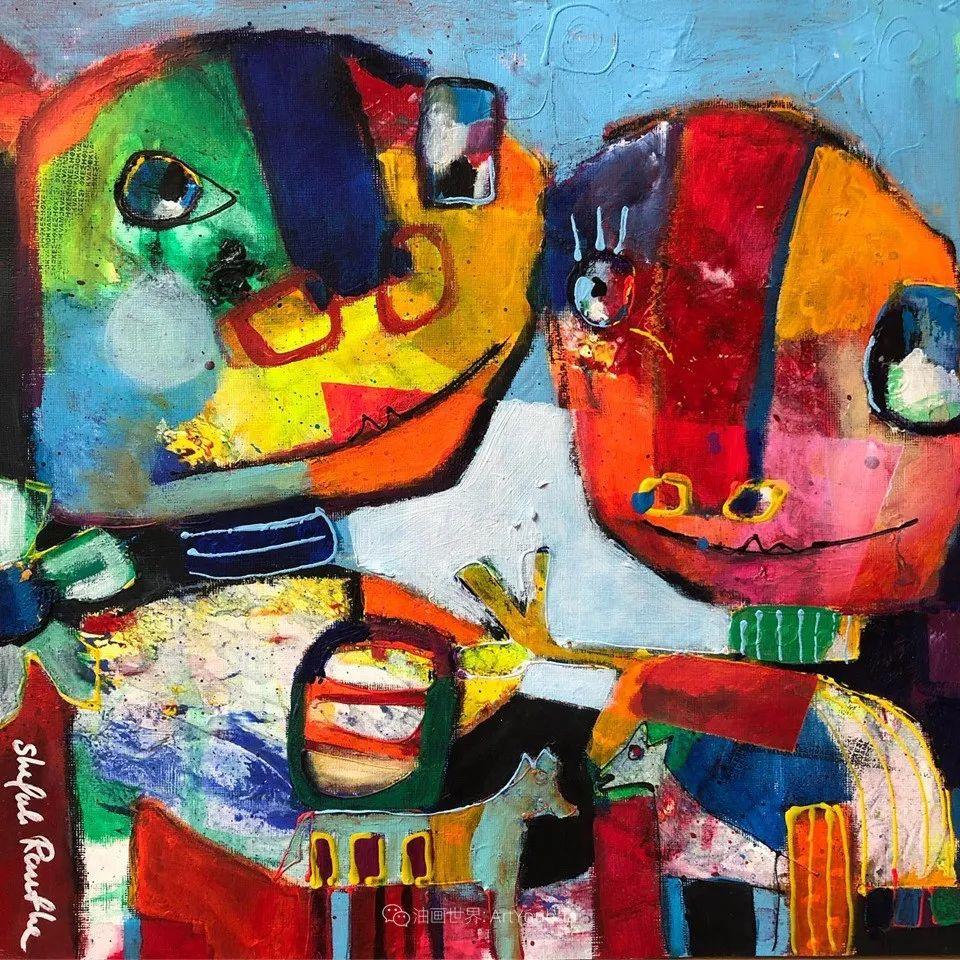 她的艺术是丰富多彩的,孟加拉国艺术家谢法利·兰特插图29