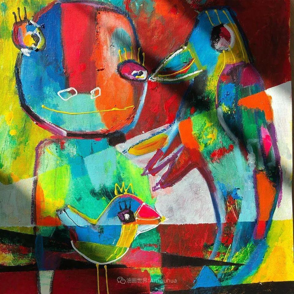 她的艺术是丰富多彩的,孟加拉国艺术家谢法利·兰特插图30
