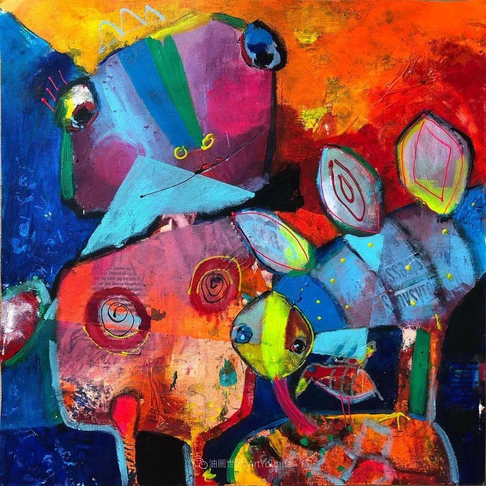 她的艺术是丰富多彩的,孟加拉国艺术家谢法利·兰特插图31