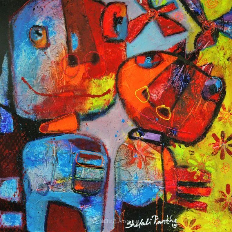 她的艺术是丰富多彩的,孟加拉国艺术家谢法利·兰特插图32