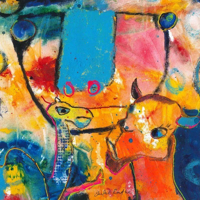 她的艺术是丰富多彩的,孟加拉国艺术家谢法利·兰特插图33