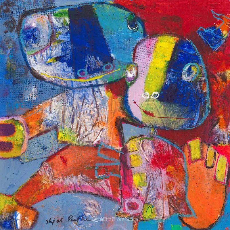 她的艺术是丰富多彩的,孟加拉国艺术家谢法利·兰特插图34