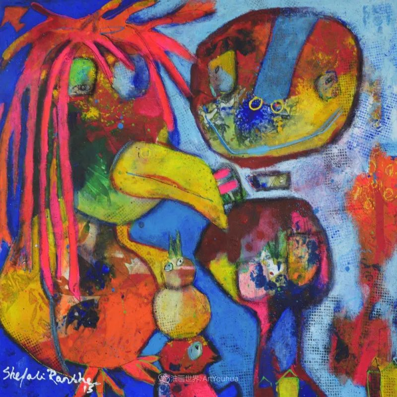她的艺术是丰富多彩的,孟加拉国艺术家谢法利·兰特插图35