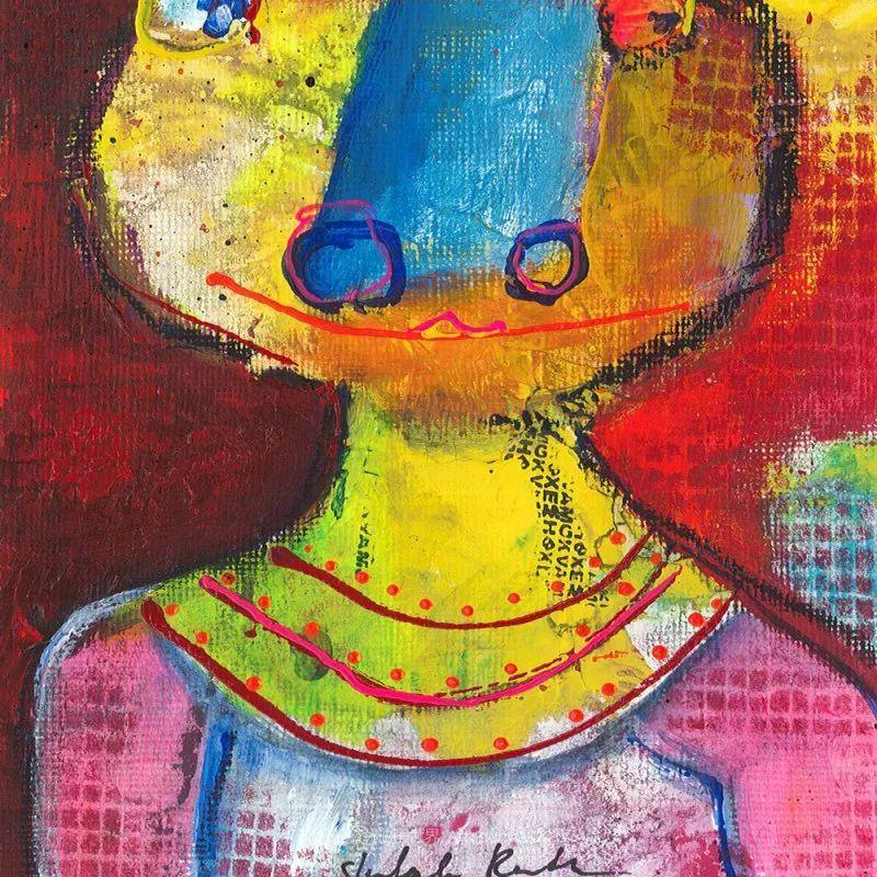 她的艺术是丰富多彩的,孟加拉国艺术家谢法利·兰特插图36