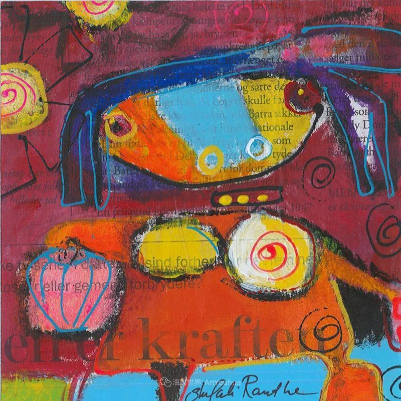 她的艺术是丰富多彩的,孟加拉国艺术家谢法利·兰特插图37