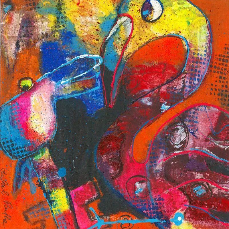 她的艺术是丰富多彩的,孟加拉国艺术家谢法利·兰特插图38