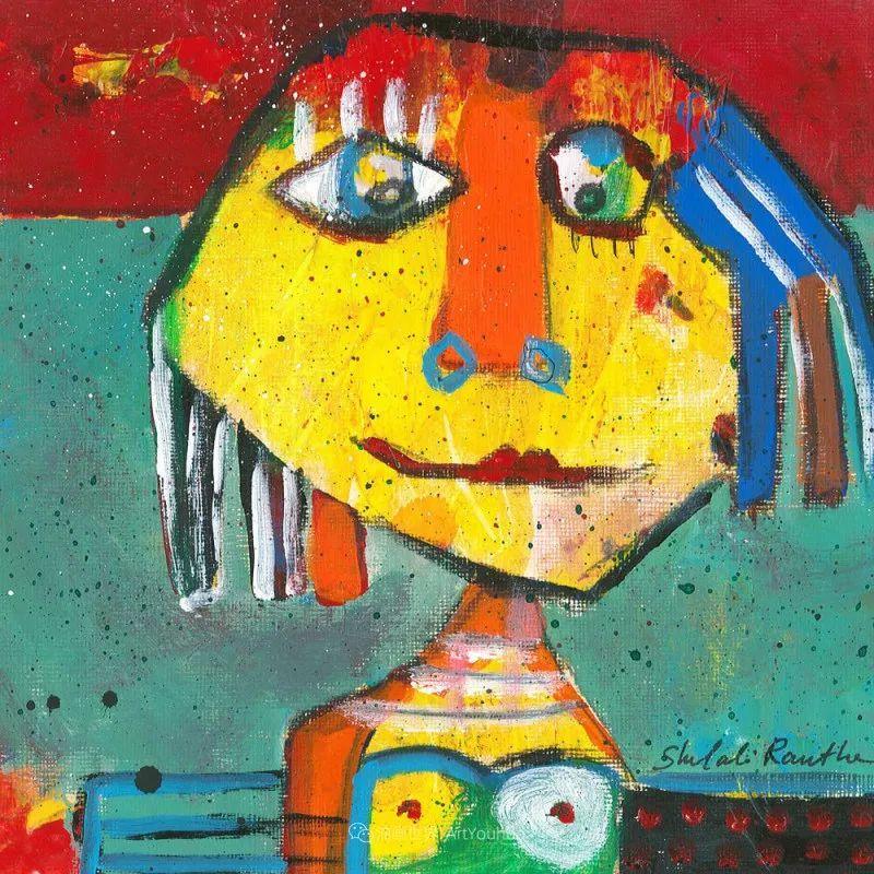 她的艺术是丰富多彩的,孟加拉国艺术家谢法利·兰特插图42