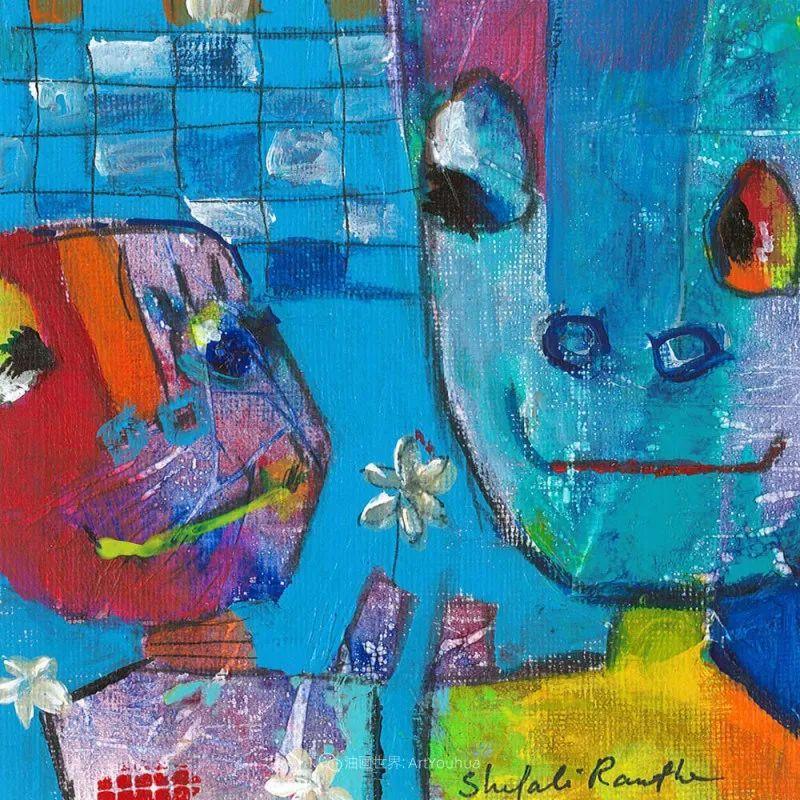 她的艺术是丰富多彩的,孟加拉国艺术家谢法利·兰特插图43