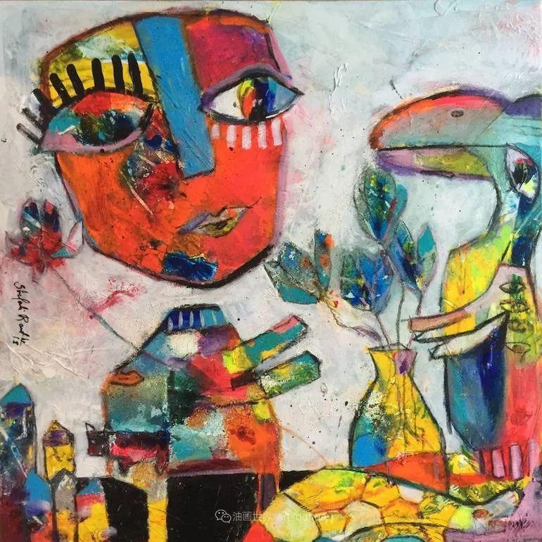 她的艺术是丰富多彩的,孟加拉国艺术家谢法利·兰特插图44