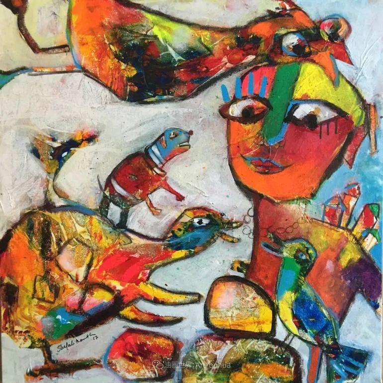 她的艺术是丰富多彩的,孟加拉国艺术家谢法利·兰特插图45