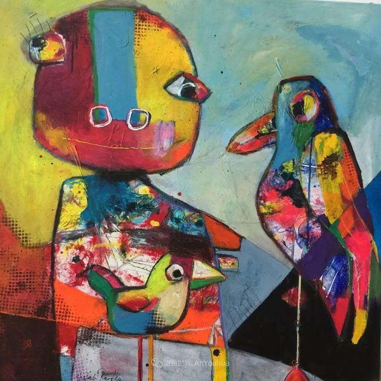 她的艺术是丰富多彩的,孟加拉国艺术家谢法利·兰特插图46