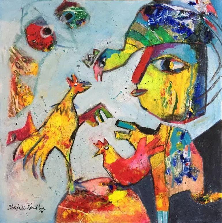 她的艺术是丰富多彩的,孟加拉国艺术家谢法利·兰特插图47