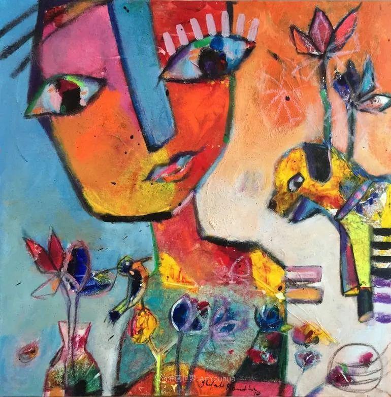 她的艺术是丰富多彩的,孟加拉国艺术家谢法利·兰特插图48