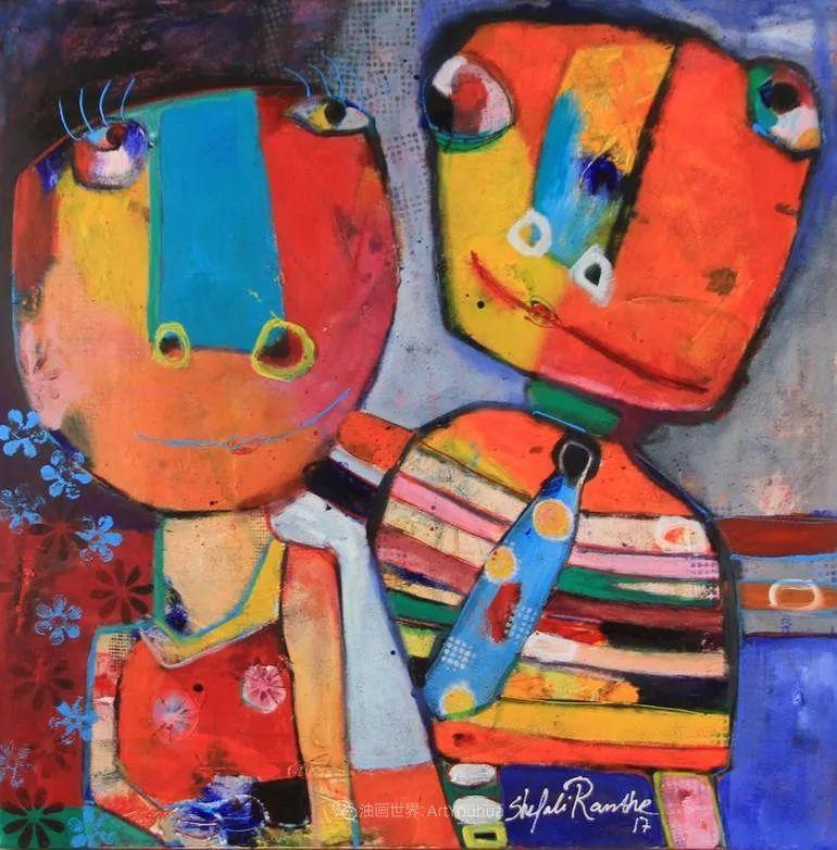 她的艺术是丰富多彩的,孟加拉国艺术家谢法利·兰特插图49