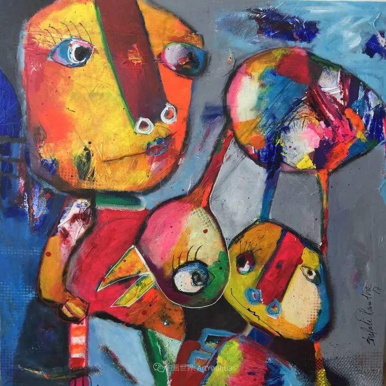 她的艺术是丰富多彩的,孟加拉国艺术家谢法利·兰特插图50